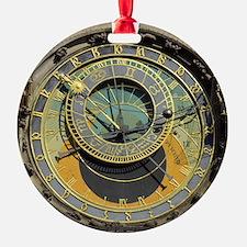 Prague Astronomy Clock Round Ornament