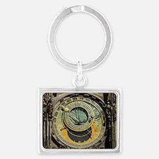 Prague Astronomy Clock Landscape Keychain