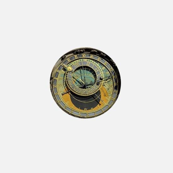 Prague Astronomy Clock Mini Button