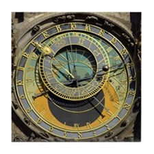 Prague Astronomy Clock Tile Coaster