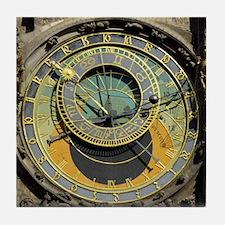 Prague Astronomy Clock Tile Coaster