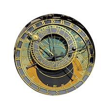 "Prague Astronomy Clock 3.5"" Button"