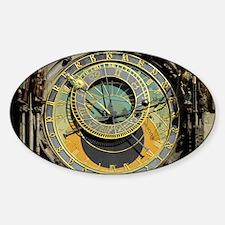 Prague Astronomy Clock Sticker (Oval)