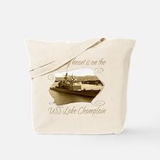 Cute Uss champlain Tote Bag