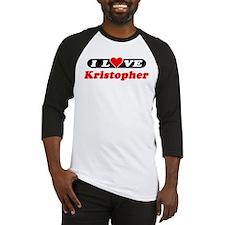 I Love Kristopher Baseball Jersey
