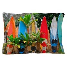 Surfboards fence Pillow Case