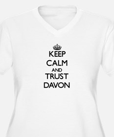 Keep Calm and TRUST Davon Plus Size T-Shirt