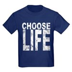 Choose Life Distressed Kids Dark T-Shirt