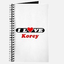 I Love Korey Journal