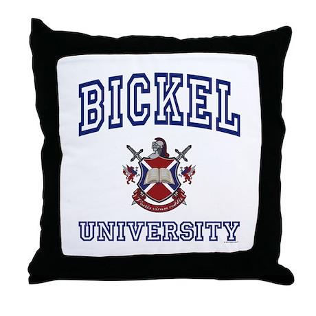 BICKEL University Throw Pillow