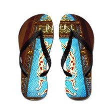 Stained glass window in mosque Flip Flops