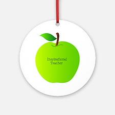 Inspirational Teacher Round Ornament