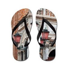 a lampstand in st. mark's square Flip Flops