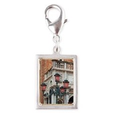 a lampstand in st. mark's sq Silver Portrait Charm