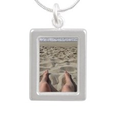 Tropea, Southern Italy 2 Silver Portrait Necklace