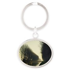 Adda river canal in Lombardy country Oval Keychain