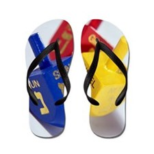 Three dreidels Flip Flops