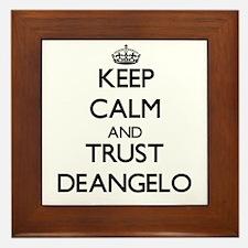 Keep Calm and TRUST Deangelo Framed Tile