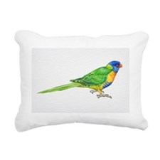 Rainbow Lorikeet, Tricho Rectangular Canvas Pillow