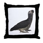 Baby African Gray Parrot Throw Pillow