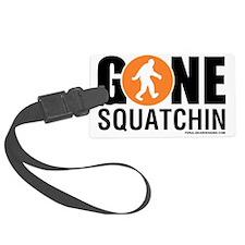 Gone Squatchin Black/Orange Logo Luggage Tag