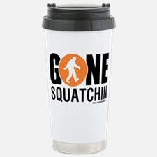 Gone Squatchin Black/Or Stainless Steel Travel Mug