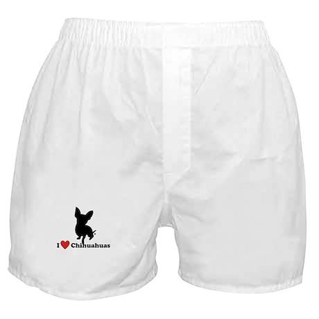 I love Chihuahuas Boxer Shorts