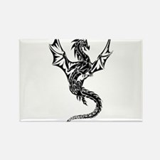 Dragon noir Rectangle Magnet
