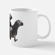 African Gray Parrot Babies Mug