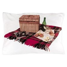 Picnic basket on blanket Pillow Case
