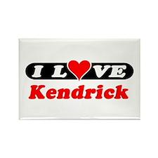 I Love Kendrick Rectangle Magnet