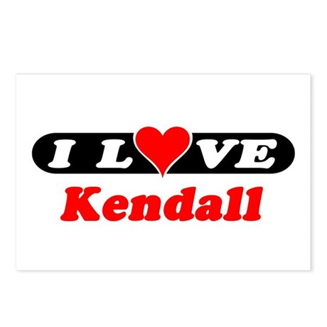 I Love Kendall Postcards (Package of 8)