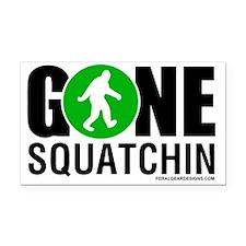 Gone Squatchin Black/Green Lo Rectangle Car Magnet