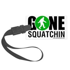 Gone Squatchin Black/Green Logo Luggage Tag