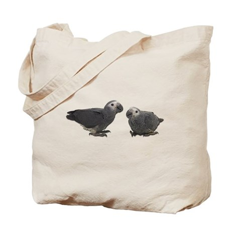 Baby African Gray Parrots Tote Bag