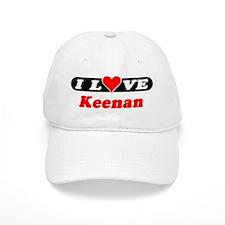 I Love Keenan Baseball Cap
