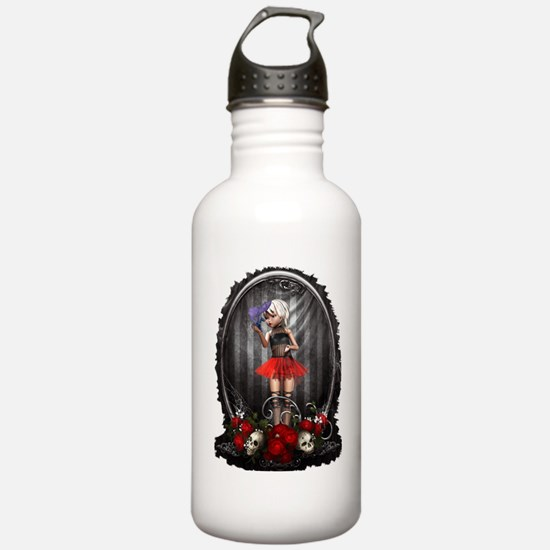 Funny Victorian gothic Water Bottle