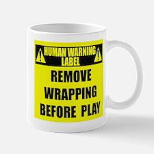 Human Warning Label: Remove Wrap Mug