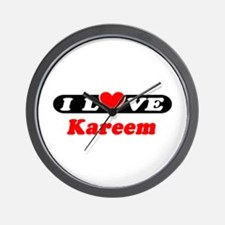 I Love Kareem Wall Clock