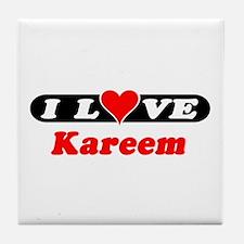 I Love Kareem Tile Coaster