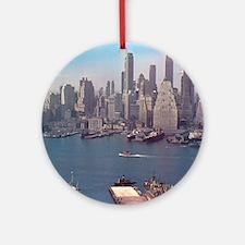 New York City Skyline 1948 Ornament (Round)