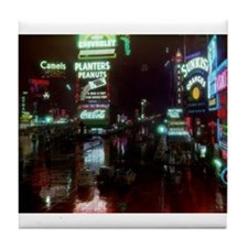 Times Square New York 1939 Tile Coaster