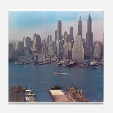 New York City Skyline 1948 Tile Coaster