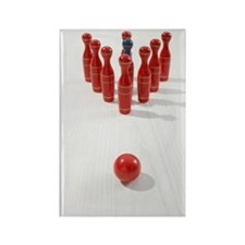 bowling still life Rectangle Magnet