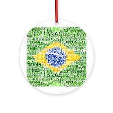 Textual Brasil Ornament (Round)