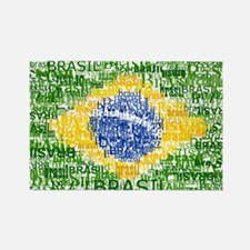 Textual Brasil Rectangle Magnet (10 pack)