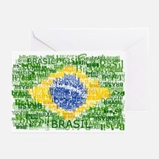Textual Brasil Greeting Cards (Pk of 10)