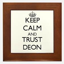 Keep Calm and TRUST Deon Framed Tile