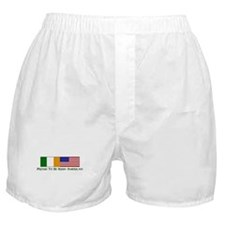 Proud to be Irish American Boxer Shorts