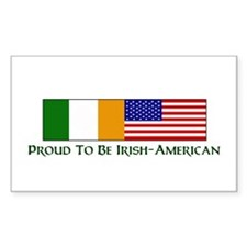 Proud to be Irish American Rectangle Bumper Stickers